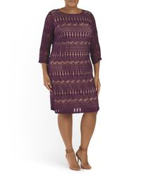 Tj Maxx - Purple Plus Marcello Lace Dress - Lyst