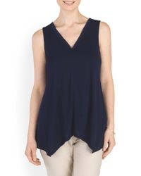 Tj Maxx - Blue V Neck Tank Top - Lyst