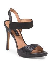 Tj Maxx - Black Leather Razle Open Toe Pump - Lyst