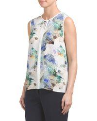 Tj Maxx - Blue Digital Floral Print Top - Lyst
