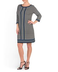 Tj Maxx - Gray Stencil Printed Dress - Lyst
