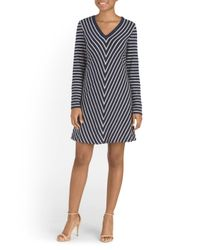 Tj Maxx - Multicolor Striped French Terry Dress - Lyst