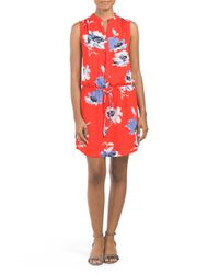 Tj Maxx - Red Sleeveless Floral Printed Dress - Lyst