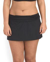 Tj Maxx - Black Plus Island Swim Hip Skirt - Lyst
