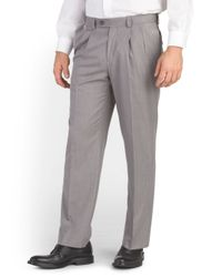 Tj Maxx - Gray Eclo Straight Fit Pleated Pant for Men - Lyst