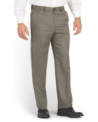 Tj Maxx - Gray Cool 18 Flat Front Pant for Men - Lyst