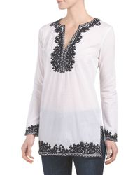Tj Maxx - White Long Sleeve Embroidered Tunic - Lyst