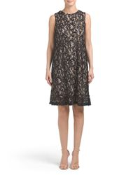 Tj Maxx - Black Sleeveless Lace Dress With Sequins - Lyst