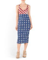 Tj Maxx - Blue Stars And Stripes Midi Dress - Lyst