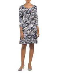 Tj Maxx - Black Printed Scoop Neck Dress - Lyst
