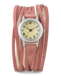 Tj Maxx - Women's Gaucho Pink Leather Wrap Watch - Lyst