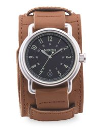 Tj Maxx - Brown Men's Axe Saddle Style Leather Cuff Watch for Men - Lyst