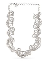 Tj Maxx - Metallic Made In Usa Silver Plated Pave Crystal Feather Necklace - Lyst