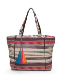 Tj Maxx - Multicolor Patterned Tote With Tassel - Lyst