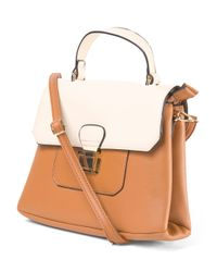 Tj Maxx - Brown Colorblock Mini Convertible Satchel - Lyst