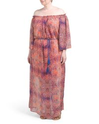 Tj Maxx - Red Plus Paisley Printed Maxi Dress - Lyst