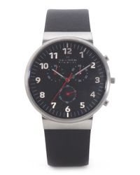 Tj Maxx - Men's Chronograph Matte Black Dial Watch With Leather Band for Men - Lyst