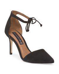 Tj Maxx - Black Suede Struts Dress Heel - Lyst