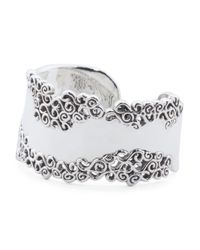 Tj Maxx - Metallic Made In Israel Sterling Silver Filigree Cuff Bracelet - Lyst