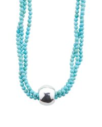 Tj Maxx - Blue Made In Israel Sterling Silver Crack Howlite Ball Necklace - Lyst