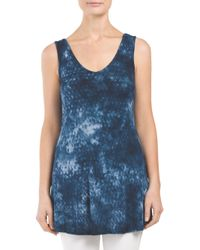Tj Maxx - Blue Made In Usa Python Printed Tie Dye Tank - Lyst