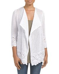 Tj Maxx - White Border Pattern Cardigan - Lyst