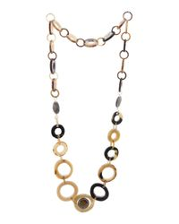 Tj Maxx - Metallic Turkish Tigers Eye Accent Horn Ring Necklace - Lyst