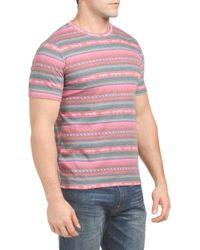 Tj Maxx - Pink Printed Short Sleeve Tee for Men - Lyst