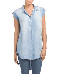 Tj Maxx - Blue Tencel Button Down Shirt - Lyst