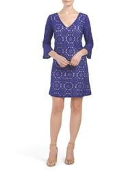 Tj Maxx - Blue All Over Lace Dress - Lyst