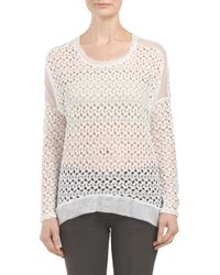 Tj Maxx - White Made In Usa Crochet Lace Dolman Top - Lyst