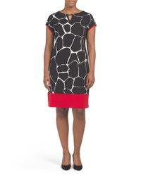 Tj Maxx - Black Plus Made In Usa Giraffe Print Dress - Lyst