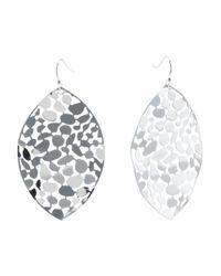 Tj Maxx - Metallic Silver Tone Etched Drop Earrings - Lyst
