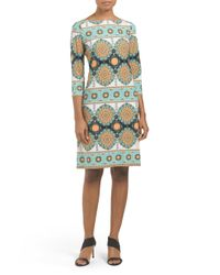 Tj Maxx - Green Persian Placement Matte Jersey Dress - Lyst