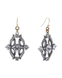 Tj Maxx - Metallic Made In Usa Crystal Rococo Earrings - Lyst