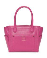 Tj Maxx - Pink Leather Valerie Satchel - Lyst