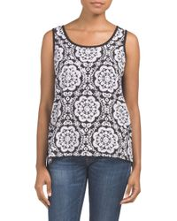 Tj Maxx - Multicolor Sleeveless Printed Tank - Lyst