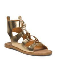 Tj Maxx - Metallic Lace Up Gladiator Sandal - Lyst