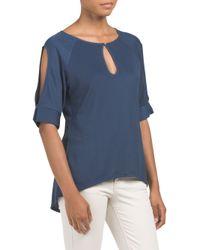 Tj Maxx - Blue Cold Shoulder Knit Top - Lyst