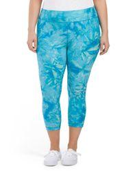 Tj Maxx - Blue Plus Active Tie Dye Capri - Lyst