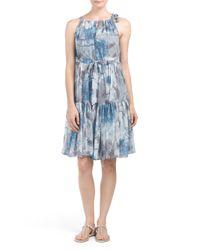 Tj Maxx - Blue Made In Usa Pine Pleated Dress - Lyst