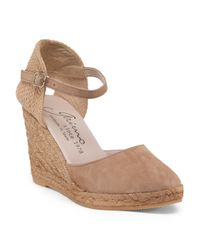 Tj Maxx - Natural Made In Spain Suede Espadrille Wedge - Lyst