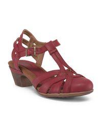 Tj Maxx - Red Block Heel Sandal - Lyst