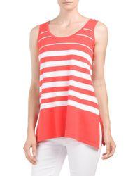 Tj Maxx - Pink Striped Sweater Tank - Lyst