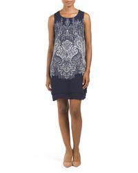 Tj Maxx - Blue Placed Paisley Printed Dress - Lyst