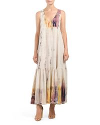 Tj Maxx - Multicolor V Neck Maxi Dress - Lyst