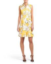 Tj Maxx - Yellow Printed Collared Dress - Lyst