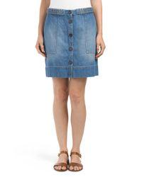 Tj Maxx - Blue Denim Sorren Button Front Skirt - Lyst