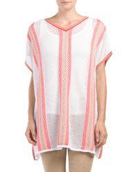 Tj Maxx - Pink Open Crochet Poncho - Lyst