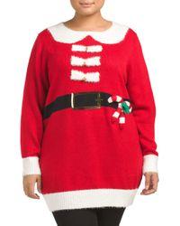 Tj Maxx   Red Plus Jolly Santa Christmas Tunic   Lyst